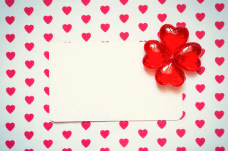 amorousness: Banner with hearts Stock Photo