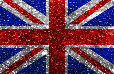 drizzling rain: The Union Jack