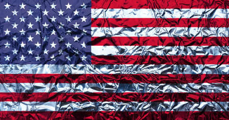aluminum: american flag Stock Photo