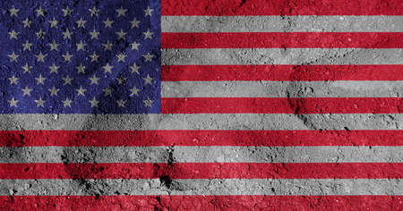 stars  background: american flag Stock Photo