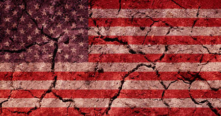 parched: american flag Stock Photo