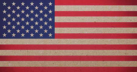 pasteboard: american flag Stock Photo