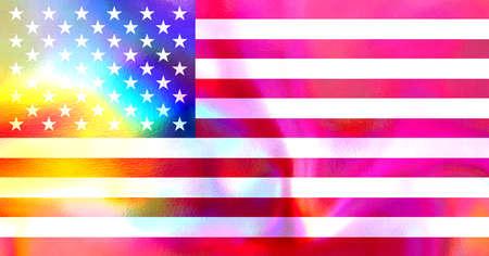 star spangled: american flag Stock Photo