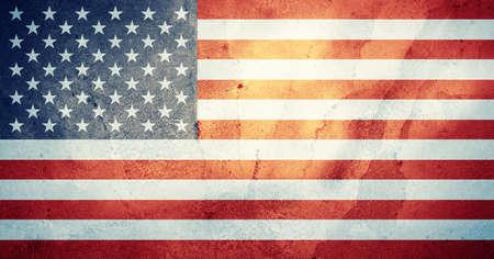 grimy: american flag Stock Photo