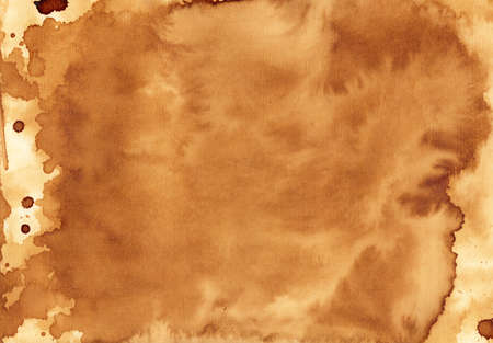 water stained: Handmade coffee texture Stock Photo