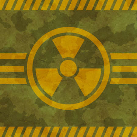smock: Khaki texture with radiation warning symbol
