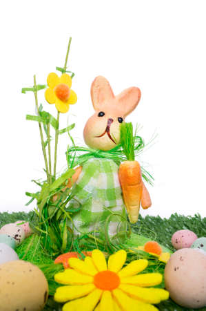 Easter background with a rabbit