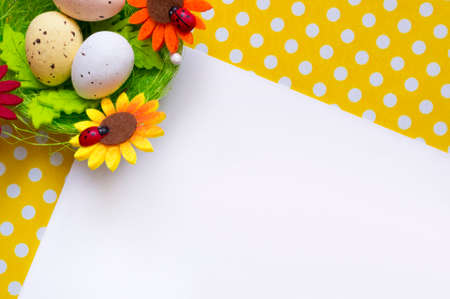 daisy wheel: Easter background Stock Photo
