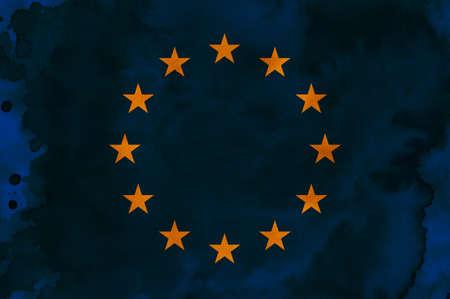 eu flag: An European flag raster illustration (background, texture).