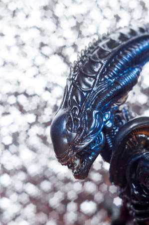 biomechanical: Alien from sci-fi movie Stock Photo