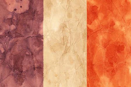 glistering: French flag illustration Stock Photo