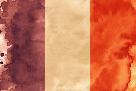 glistering: French flag illustration Stock Photo