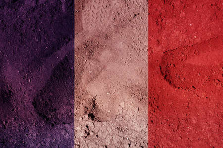 parched: French flag illustration Stock Photo