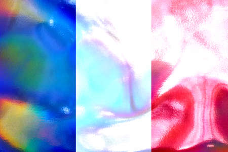 tricolour: French flag illustration Stock Photo