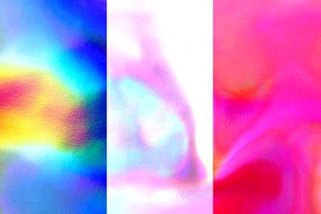 holographic: French flag illustration Stock Photo
