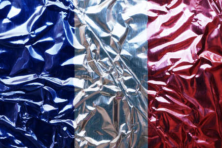 glister: French flag illustration Stock Photo