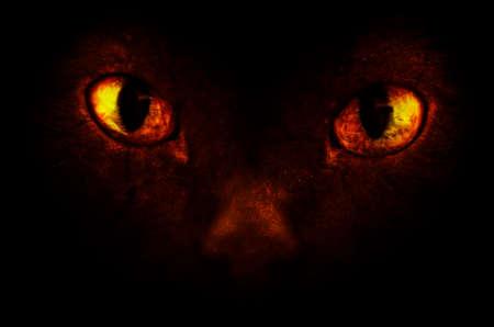 diabolical: Orange demonic eyes