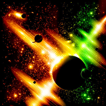radio beams: Retro space background