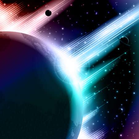 aureola: Retro space background