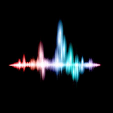 sonido: Diseño de la onda de sonido fluorescente