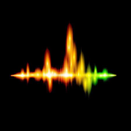 analyzer: Fluorescent sound wave design
