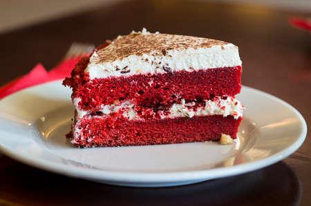 red velvet: red velvet cake Stock Photo