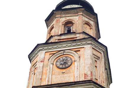 architectural exteriors: Old clock tower building Stock Photo
