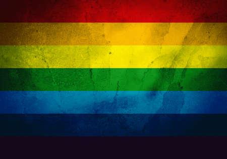 grimy: LGBT flag illustration