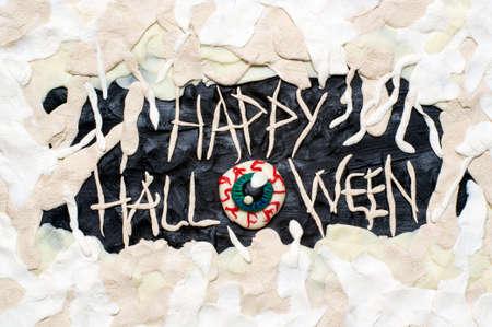 plasticine: Clay Halloween postcard Stock Photo