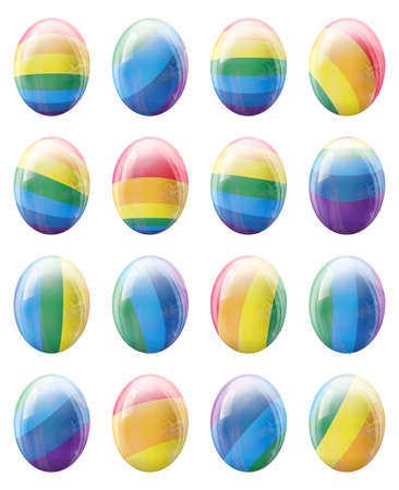 specter: The collection of colorful LGBT Easter eggs. Stock Photo