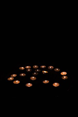 Moody candles in the dark