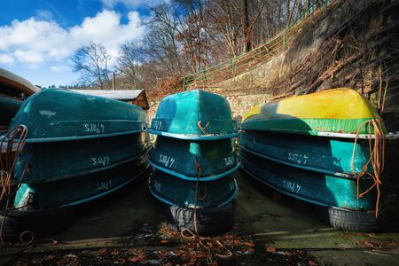 Winter storage of the rowing boats