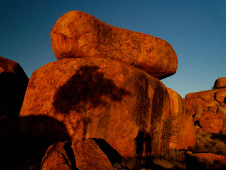 Devils Marbles in Australia, huge round red rocks Stock Photo - 13554639