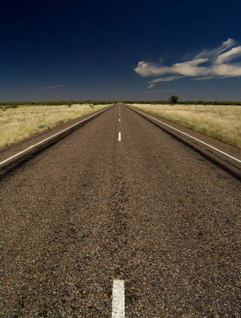Outback road of Australia photo