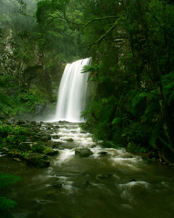 Waterfall in Rainforest, Victoria, Otway National Park, Australia