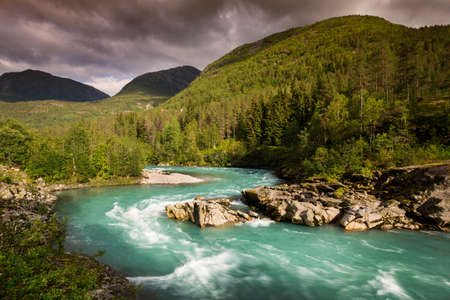 jostedal: Mountain river in Norway