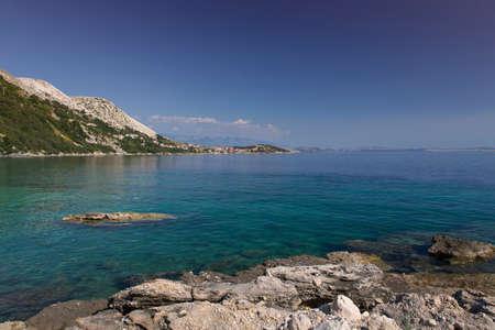 krk: Coast in Krk, Croatia Stock Photo