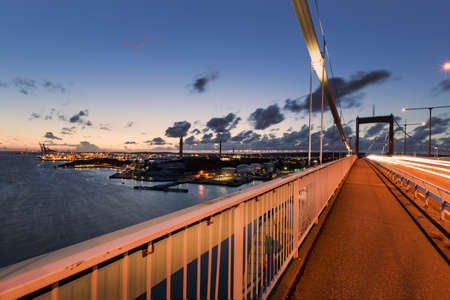 gothenburg: Gothenburg harbor with lvsborgsbron during sunset