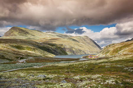 national park: Rondane national park with mountains Stock Photo