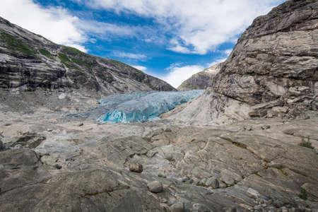 jostedal: Blue glacier Nigardsbreen in Norway