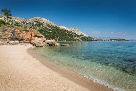 krk: Beach in Krk, Croatia Stock Photo