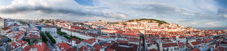 chiado: Lisbon city panorama from above