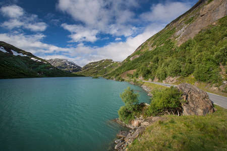 jotunheimen national park: Turquoise lake in Jotunheimen National Park Stock Photo