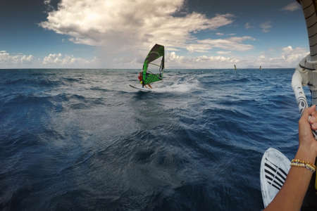 windsurf: Windsurf en Rodas, Grecia