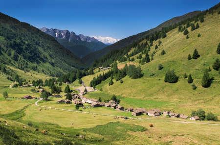 ponte: Village Casa di Viso in the Alps, Italy, Ponte di Legno