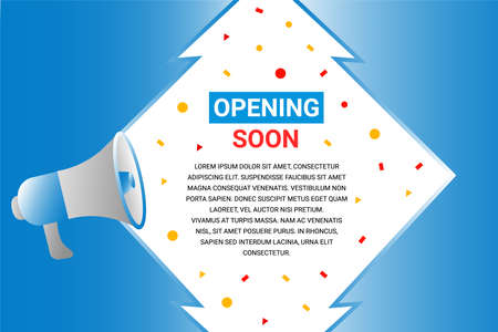 Modern opening soon background flat design
