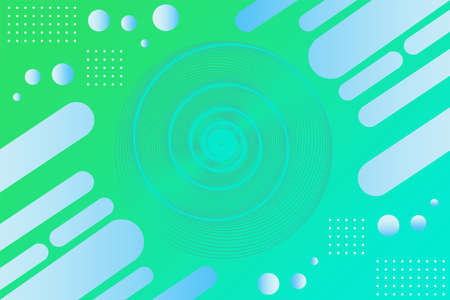 Gradient green blue geometric background