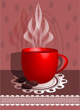 koffie cap met boom coffeebens