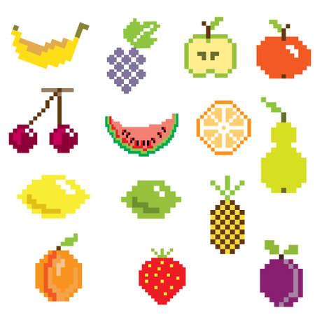 pixel art ifruit icons in color Vector