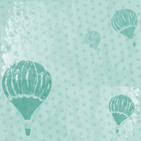 old-styled grange background with balloons Иллюстрация
